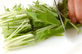 水菜のホットサラダの下準備1
