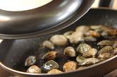 アサリと野沢菜のパスタの作り方3