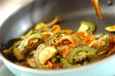 豚肉とゴーヤのカレー炒めの作り方2