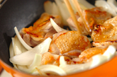 ブロッコリーとチキンの豆乳クリーム煮の作り方1