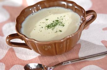 白ネギの豆乳ポタージュ