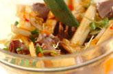 白菜と砂肝のピリ辛和えの作り方3