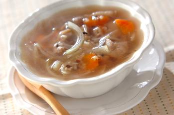 雑穀入り満足スープ