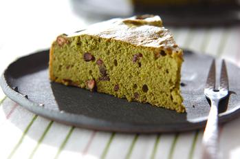 抹茶と小豆のケーキ