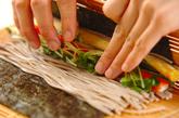 そば巻き寿司の作り方3