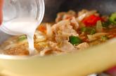 焼き白菜の豚肉黒酢あんかけの作り方3