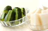 生ハムロールサラダの作り方1