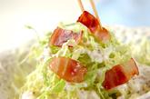 キャベツとカリカリベーコンサラダの作り方2