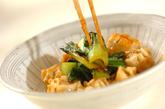 シューマイとチンゲンサイのケチャップ炒めの作り方3