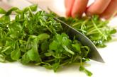豆苗のナムルの作り方1