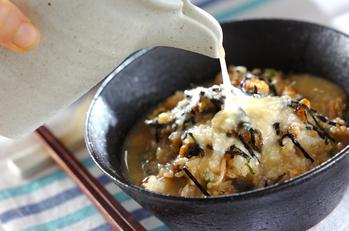 ウナギご飯の冷製トロロ茶漬け