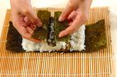わんちゃんデコ巻き寿司の作り方6