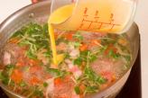 トマトと卵のスープの作り方3