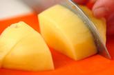 ジャガイモの甘煮の下準備1