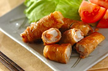 長芋の豚肉梅ロール