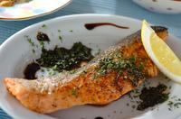生鮭のスパイシーハーブ焼き