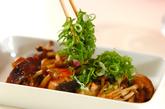 鮭とキノコのマヨしょうゆ炒めの作り方2