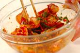 タコとキムチの和え物の作り方1