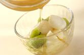 白玉とフルーツのシロップがけの作り方3