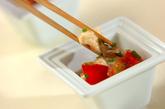 トマトとモッツァレラのザーサイ和えの作り方2
