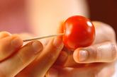 プチトマトのジンジャーコンポートの下準備1