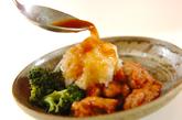 揚げ鶏おろしのせの作り方4