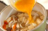 高野豆腐とユリネの卵とじの作り方2