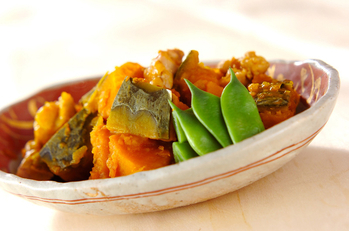カボチャと鶏肉の煮物