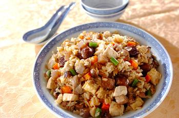 豆腐入り中華おこわ