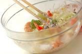 エビと野菜の和風マヨ和えの作り方2
