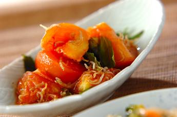 トマトと大葉のサッと炒め