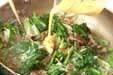 ほうれん草の牛肉卵炒めの作り方3
