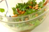 大豆と香菜のサラダの作り方1