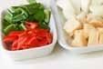 鶏と野菜の酢豚風の下準備3