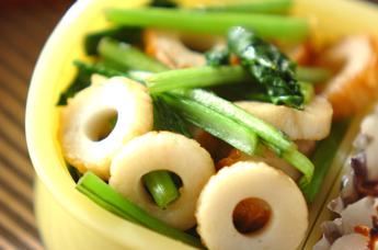 小松菜とちくわのユズコショウ炒め