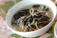 ネギ素麺汁