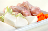 カブと鶏のポトフの下準備1