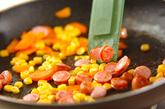 トロトロ卵の焼きカレーライスの作り方1
