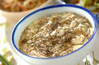 豆腐と長芋のふんわり蒸しご飯