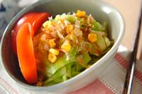 ゆでキャベツのサラダ