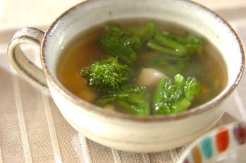 ホタテと菜の花のスープ