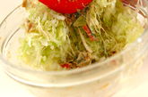 キャベツと大葉のゴママヨサラダの作り方2