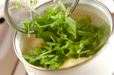 水菜のふんわりかきたま汁の作り方2