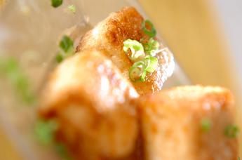 豆腐のレモンバター焼き
