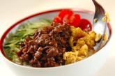 カラフル焼き肉丼の作り方3