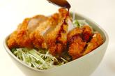 サクサクチキンカツ丼の作り方3