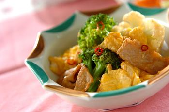 花野菜のピリ辛炒め