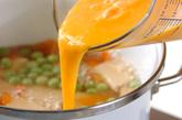エンドウ豆の卵とじの作り方2