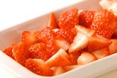 イチゴのふるふるババロアの作り方1