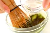 ココナッツ汁粉抹茶ソースの下準備1
